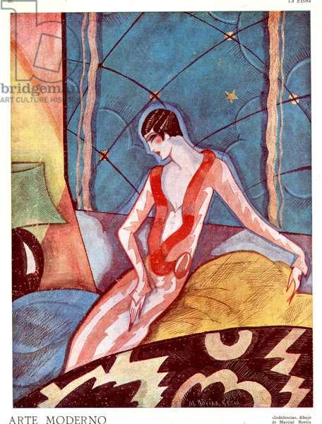 Illustration from 'La Esfera', 1920s (colour litho)