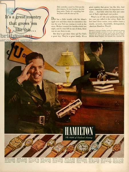 Hamilton Magazine Advert, 1941 (colour litho)