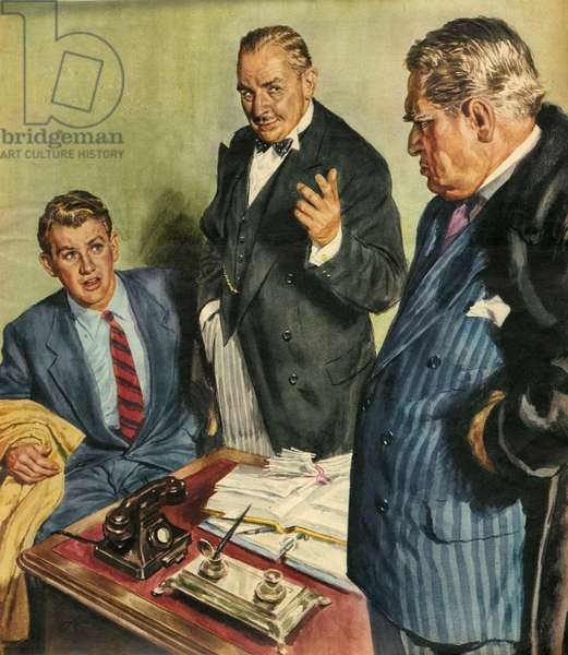 Illustration from 'John Bull', 1959 (colour litho)