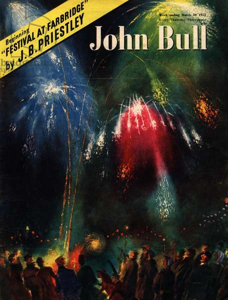 Front Cover of 'John Bull', March 1951 (colour litho)