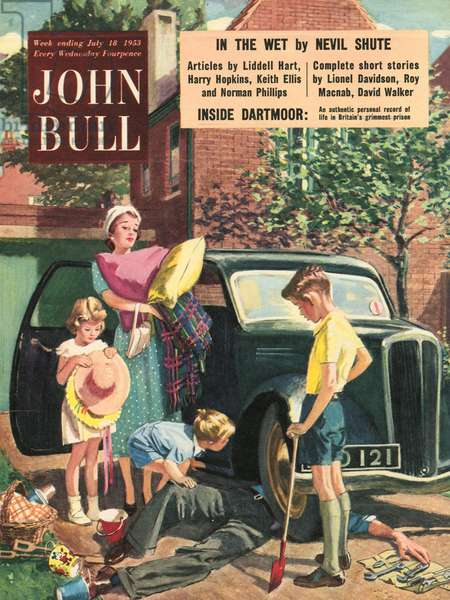 Front cover of 'John Bull', July 1953 (colour litho)