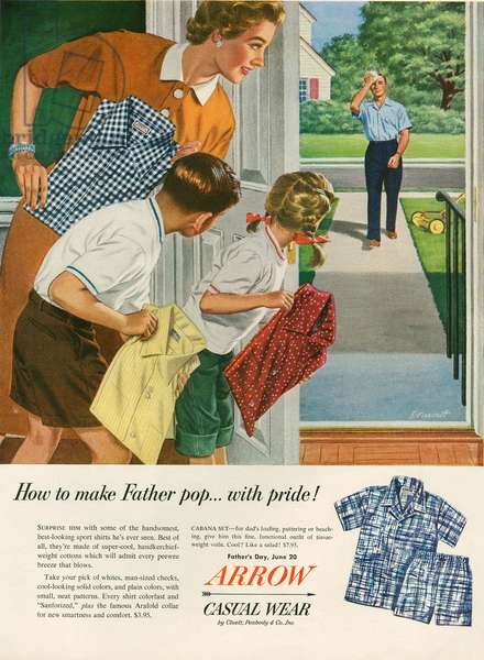 Arrow Magazine Advert, 1950s (colour litho)