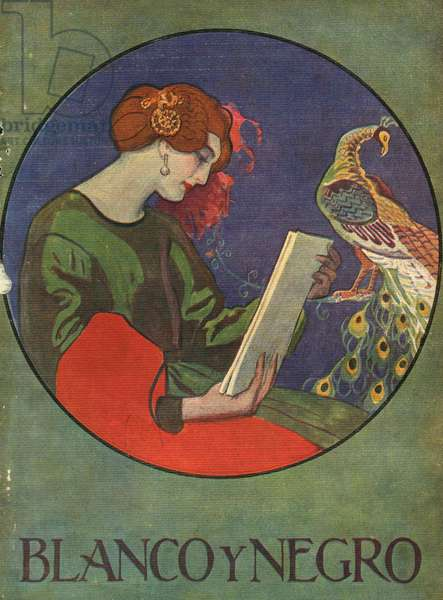 Front cover of 'Blanco y Negro', 1920s (colour litho)