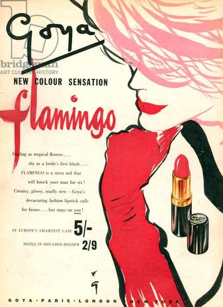 Goya Magazine Advert, 1950s (colour litho)