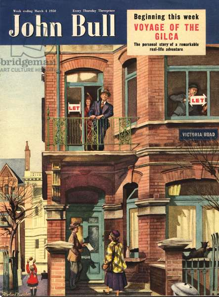 Front cover of'John Bull', March 1950 (colour litho)
