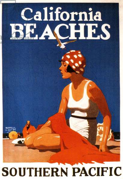 Southern Pacific Railway poster, 1920s (colour litho)