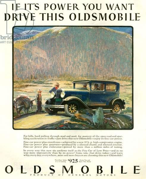 Oldsmobile Magazine Advert, 1920s (colour litho)