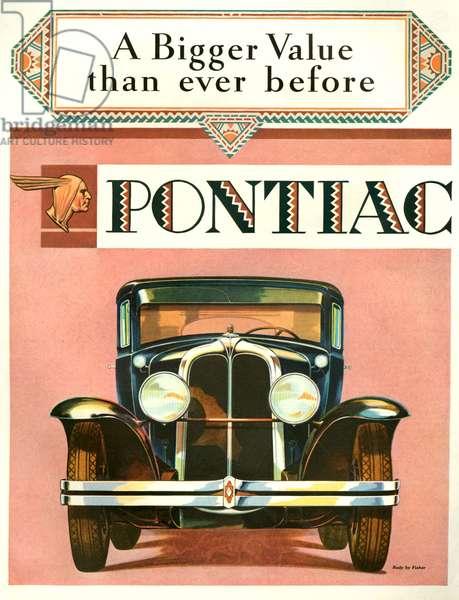 Pontiac Magazine Advert, 1929 (colour litho)