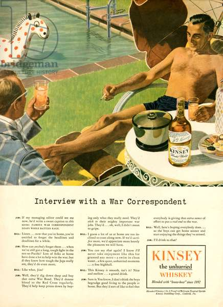 Kinsey Magazine Advert, 1940s (colour litho)