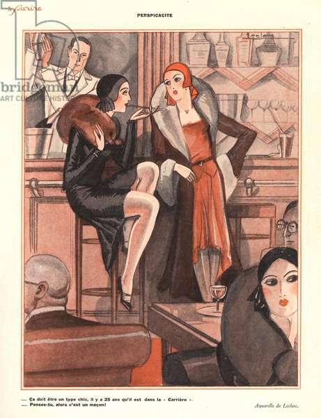 Illustration from 'Le Sourire', 1920s (colour litho)