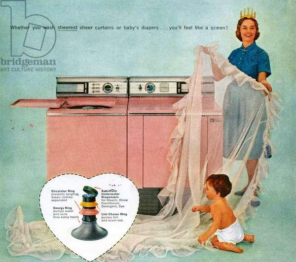 Washing Machines, Magazine Advert, 1960s (colour litho)