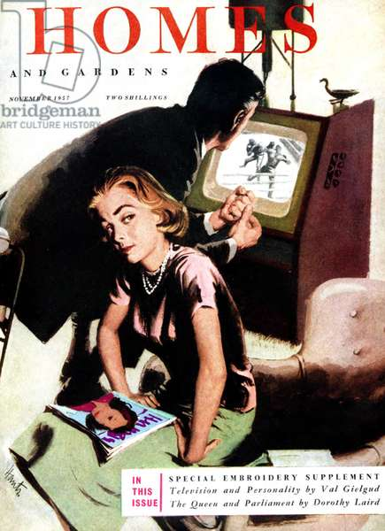 Cover of Homes and Gardens magazine, 1957 (colour litho)