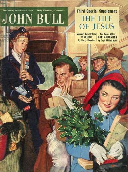 Front cover of 'John Bull', December 1954 (colour litho)