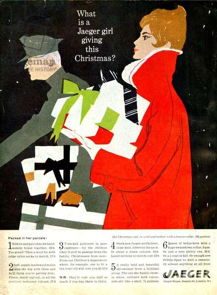 Jaeger magazine advert, 1950s (colour litho)