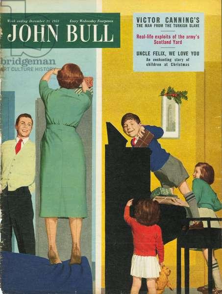 Front cover of 'John Bull', December 1953 (colour litho)