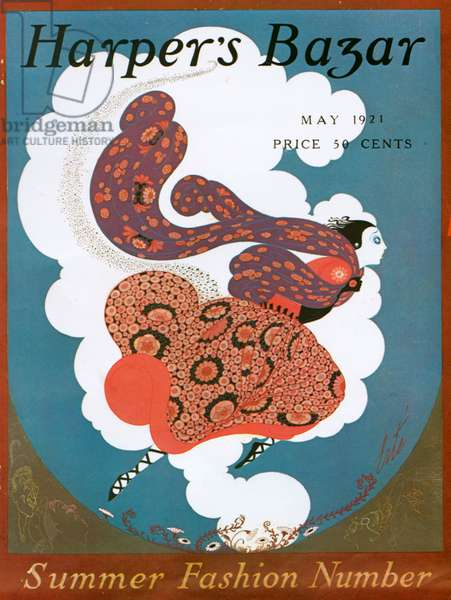 Front cover of Harper's Bazaar Magazine, May 1921 (colour litho)
