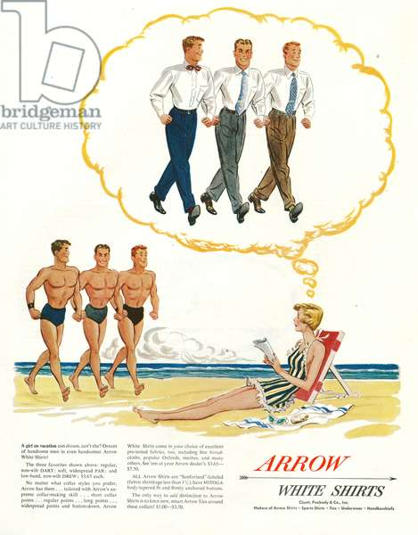Arrow Magazine Advert, 1950s (colour litho)