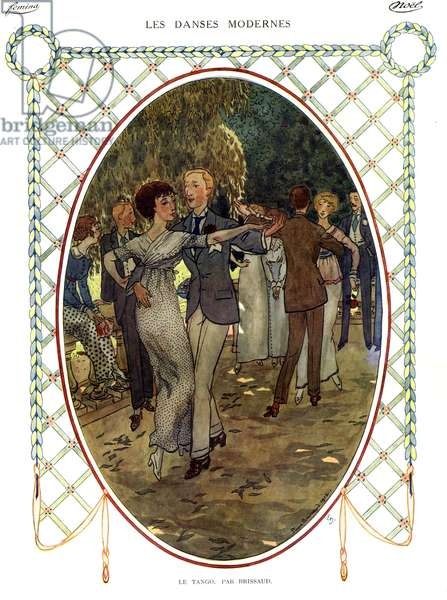 The Tango, illustration from 'Femina', 1912 (colour litho)