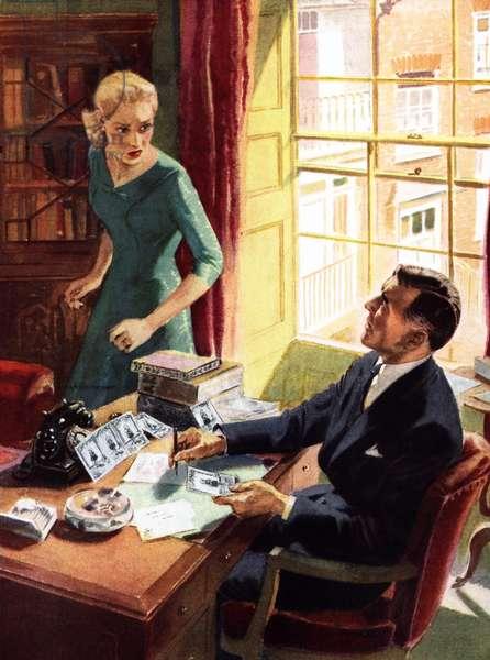 The Secretary (colour litho)