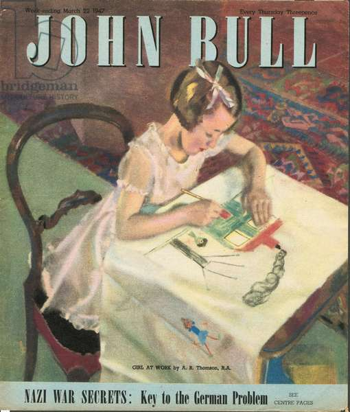 Front cover of 'John Bull', March 1947 (colour litho)