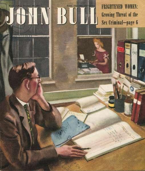 Front cover of 'John Bull', October 1947 (colour litho)