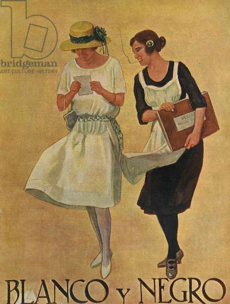 Front cover of 'Blanco y Negro', 1922 (colour litho)