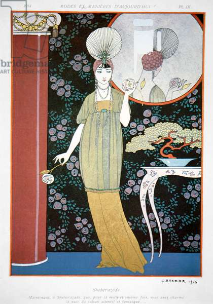Plate from 'Modes et Manieres' 1914 (colour litho)