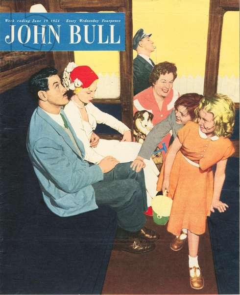 Front cover of 'John Bull', June 1954 (colour litho)