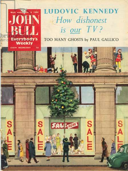 Front Cover of 'John Bull', January 1960 (colour litho)
