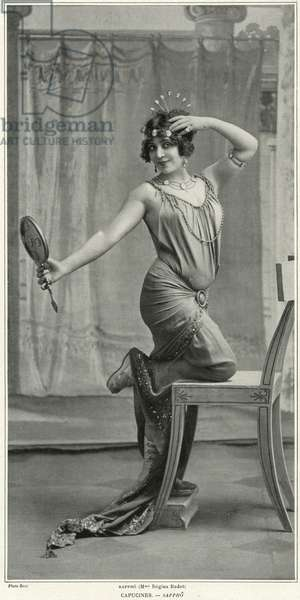 Madame Regina Badet as Sappho, from 'Le Theatre', 1912 (b/w photo)