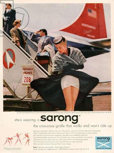 Sarong Magazine Advert, 1950s (colour litho)