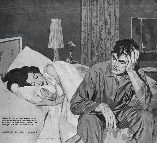 Illustration from magazine, 1959 (colour litho)