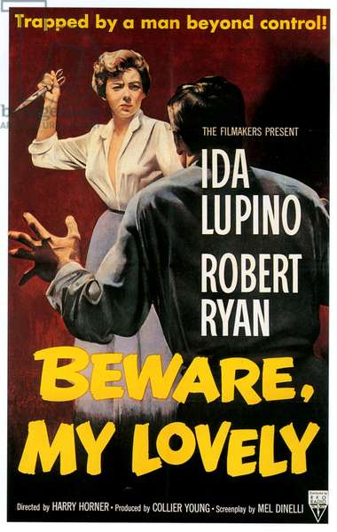 'Beware, My Lovely' Film Poster, 1952 (colour litho)