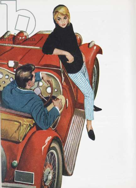 Illustration from a women's magazine, 1959 (colour litho)