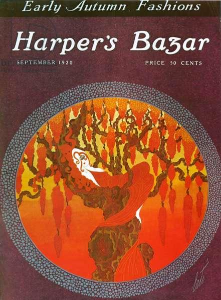 Front cover of Harper's Bazaar Magazine, September 1920 (colour litho)