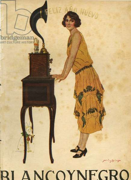 Front cover of 'Blanco y Negro', 1925 (colour litho)
