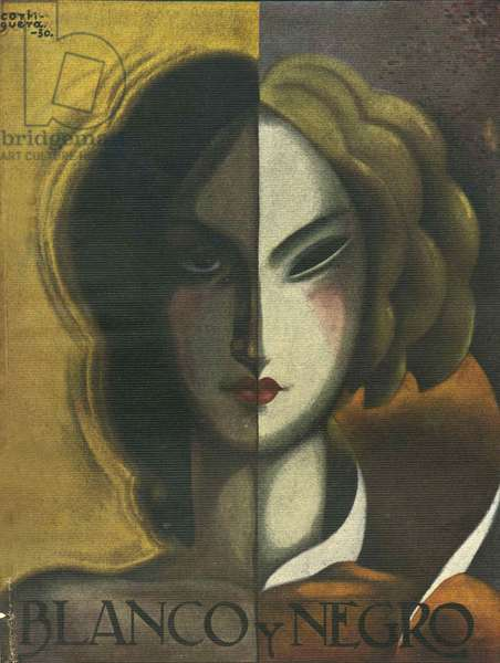 Front cover of 'Blanco y Negro', 1930 (colour litho)