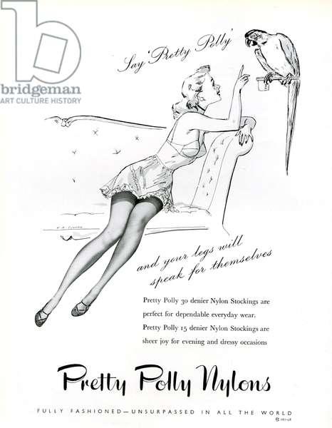 Pretty Polly Magazine Advert, 1954 (litho)