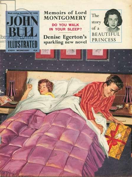 Front cover of 'John Bull', December 1958 (colour litho)