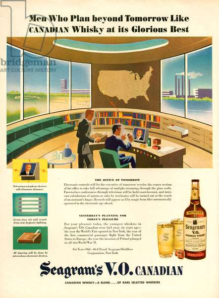 Seagram's Magazine Advert, 1940s (colour litho)