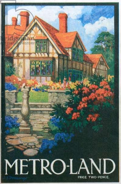 Metro-Land Magazine cover, 1920s (colour litho)