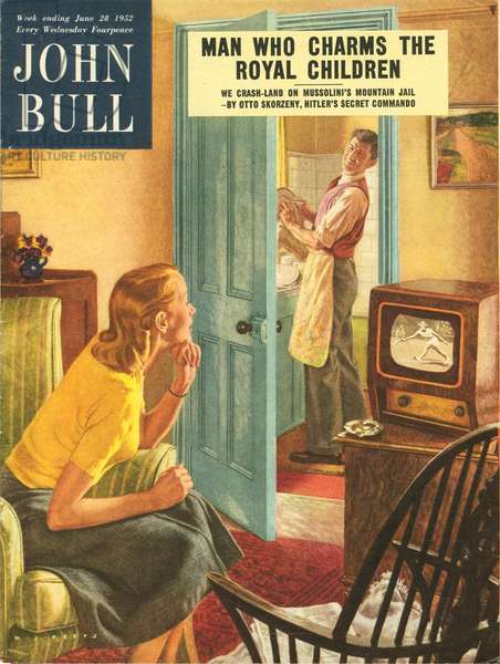 Front cover of 'John Bull', June 1952 (colour lithograph)