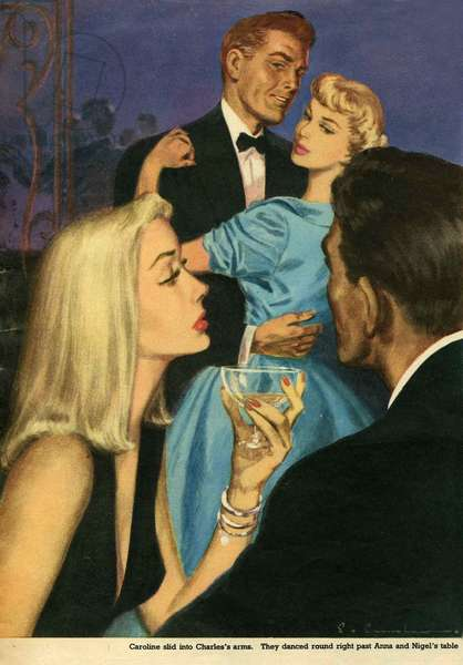 Illustration from magazine, 1951 (colour litho)