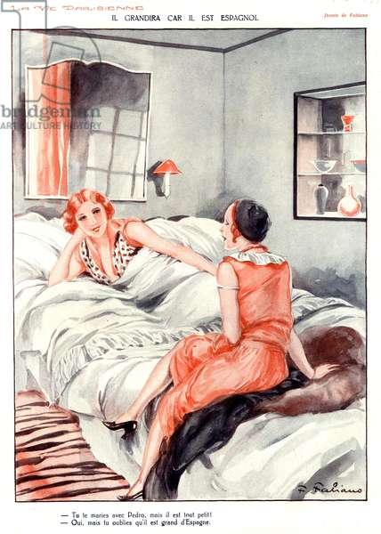 Illustration from 'La Vie Parisienne', 1920s (colour litho)