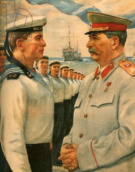 Russian Propaganda Poster, 1948 (colour litho)