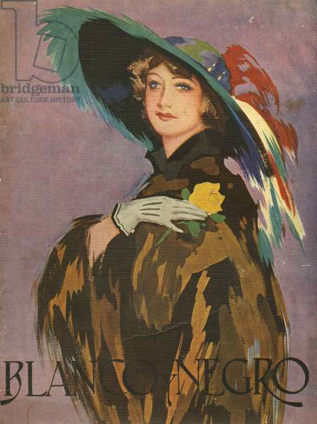 Front cover of 'Blanco y Negro', 1932 (colour litho)