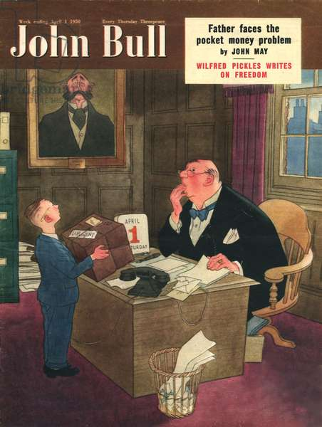 Front cover of 'John Bull', April 1950 (colour litho)