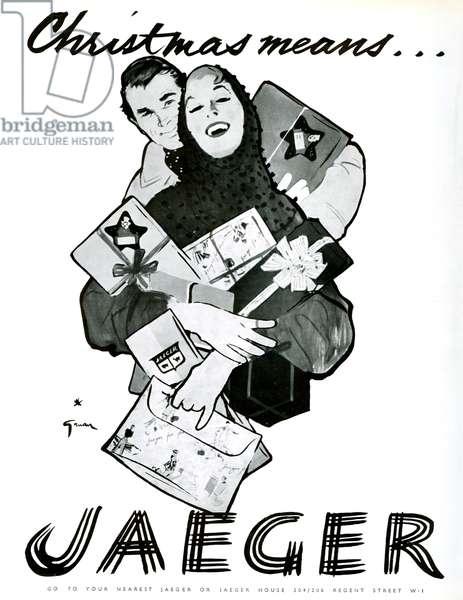 Jaeger Magazine Advert, 1954 (litho)