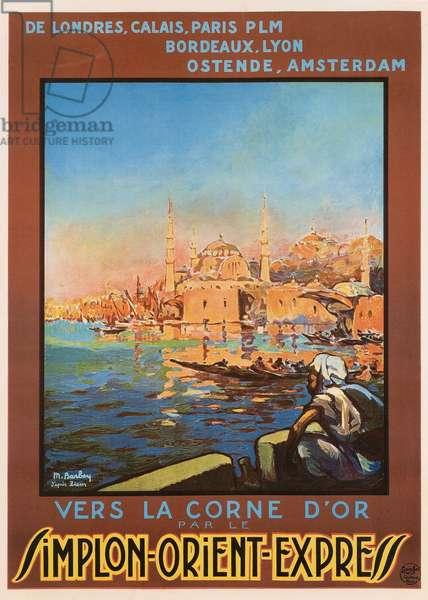 Simplon Orient-Express poster, 1920s (colour litho)