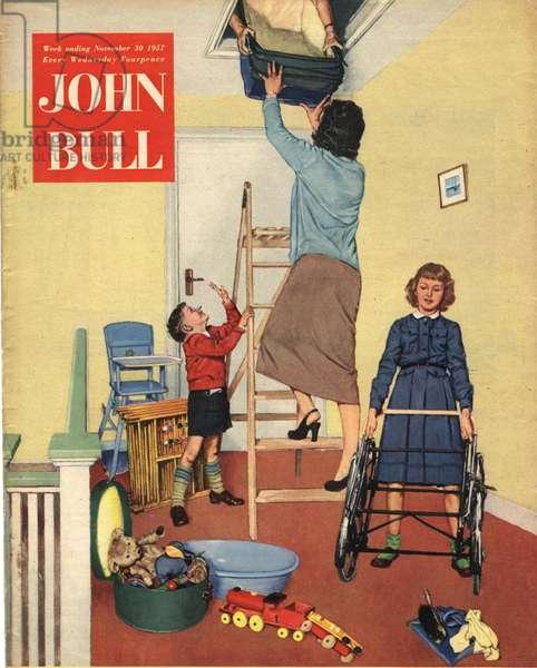 Front cover of'John Bull', November 1957 (colour litho)
